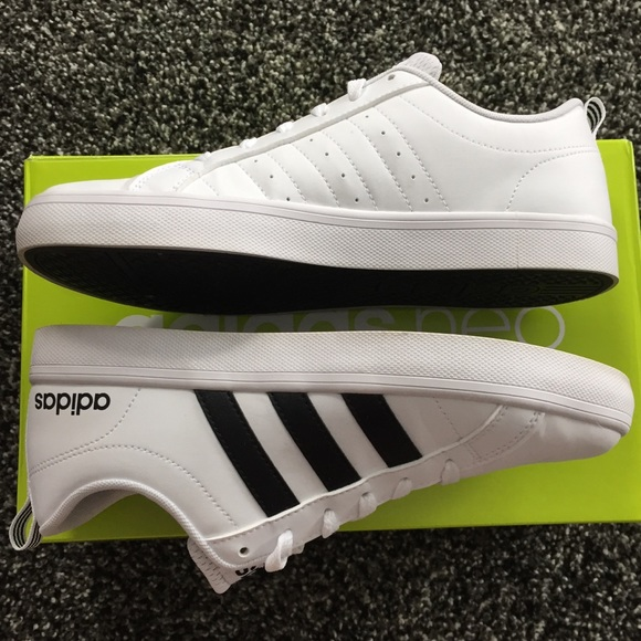 e82caaa707e adidas Shoes - Adidas Neo white and black striped VS Pace sneaker